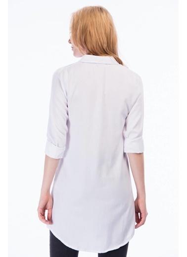 Cottonmood 8362734 Şamre Uzun Kollu Gömlek Beyaz Beyaz